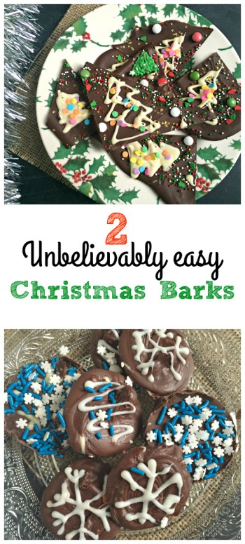 Christmas Chocolate Bark! easy, adaptable, fun and cheap Chocolate Bark is to make! I love to make Chocolate Bark around the holidays - it's so quick and a really fun activity to do with kids too.