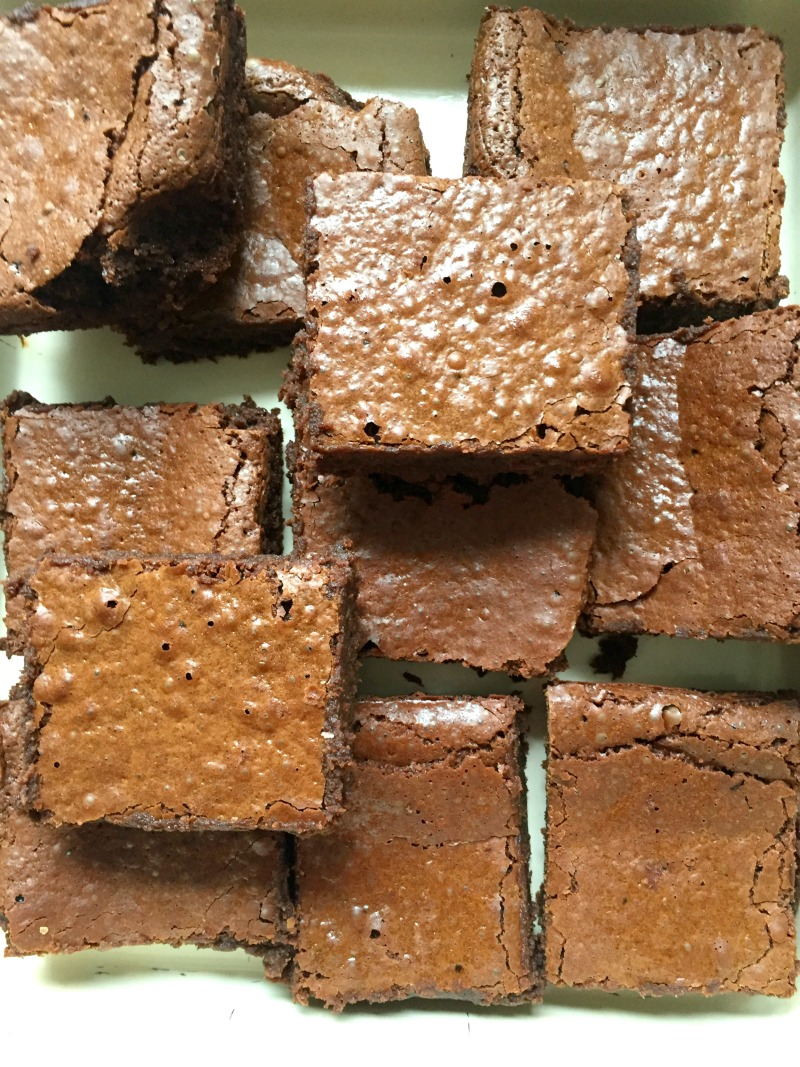 Best Ever Chocolate Fudge Brownies - Gluten-Free too! Dense, crackly topped, moist, fudgy, packed full of chocolate, and just five ingredients! These are the Best Ever Chocolate Fudge Brownies! {Gluten-Free!}