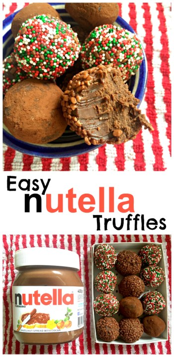 Easy Nutella Truffles with all the yummy hazlenut flavour of Nutella - and only three ingredients!