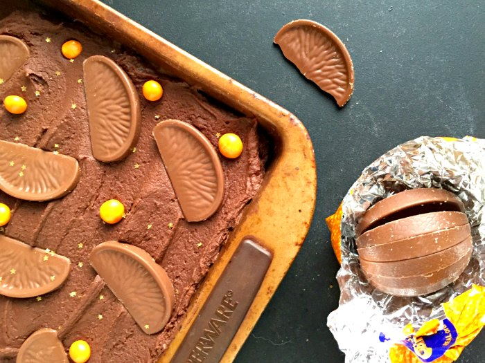 Love Terry's Chocolate Orange? You'll love this Easy Terry's Chocolate Orange Slice - no bake and just a few minutes to make!