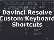 Keyboard Customization with Davinci Resolve 15 4