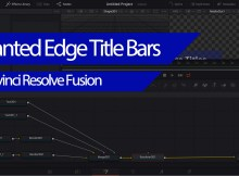 Creating Slanted Edge Title Boxes in Davinci Resolve Fusion 2