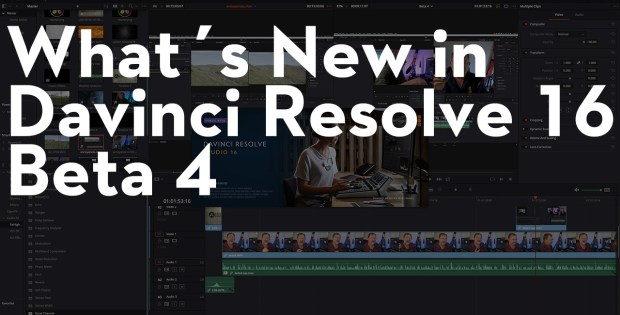 What's New in Davinci Resolve 16 Beta 4 1