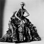 """Irving Penn's """"Ball Dress by Olivier Theyskens for Nina Ricci, New York, 2007."""" Penn's career spanned the decades from the 1940s until his death in 2009. Credit Gift of the Irving Penn Foundation, Condé Nast/Smithsonian American Art Museum"""
