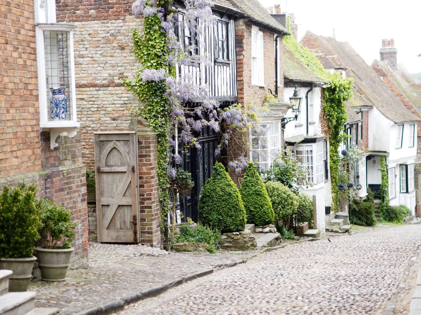 Walking the cobbles In Rye, East Sussex