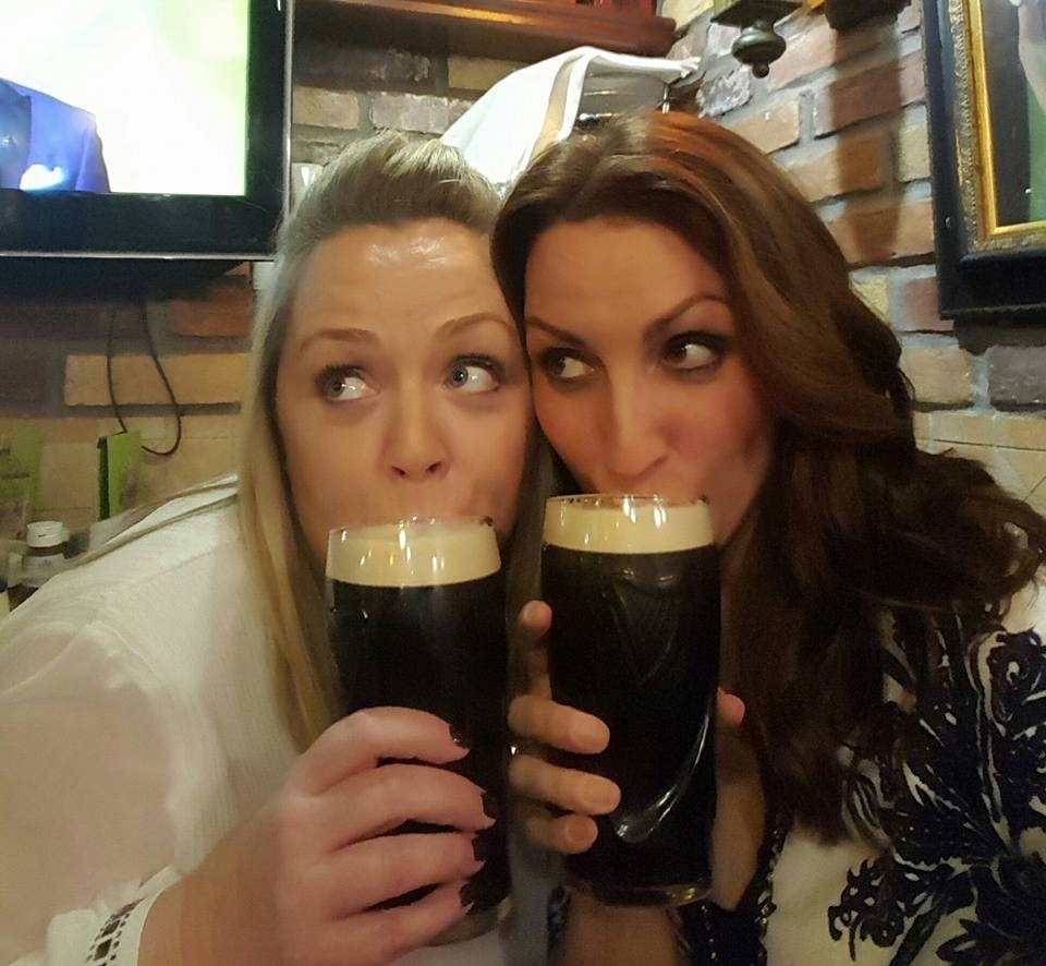 Enjoying a Guiness in Dublin