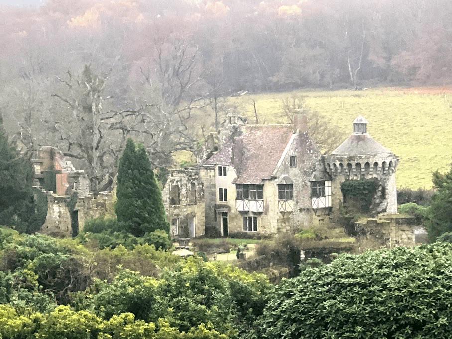 The old castle viewed from the manor house