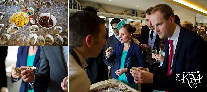 Gallivant hotel wedding oyster bar