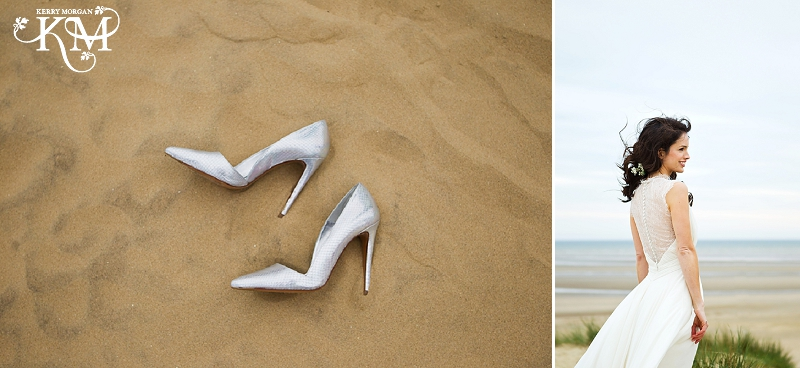 I could resist this picture of Hannah's shoes strewn on the sand.