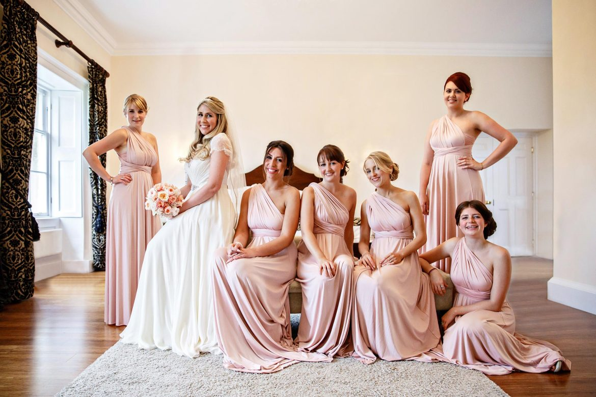 Bridesmaids at Botleys Mansion