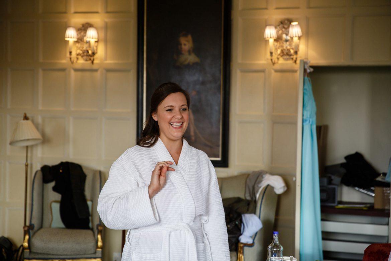 bridesmaid at Cliveden House Wedding