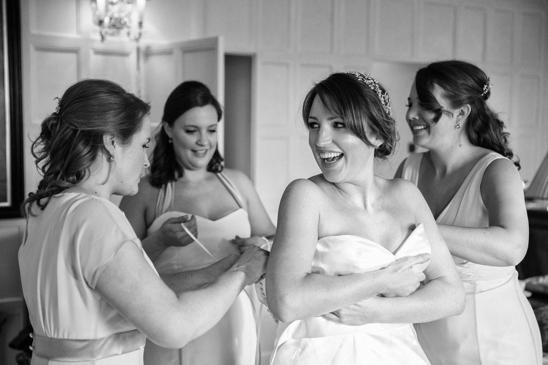 Cliveden House Wedding bride getting ready