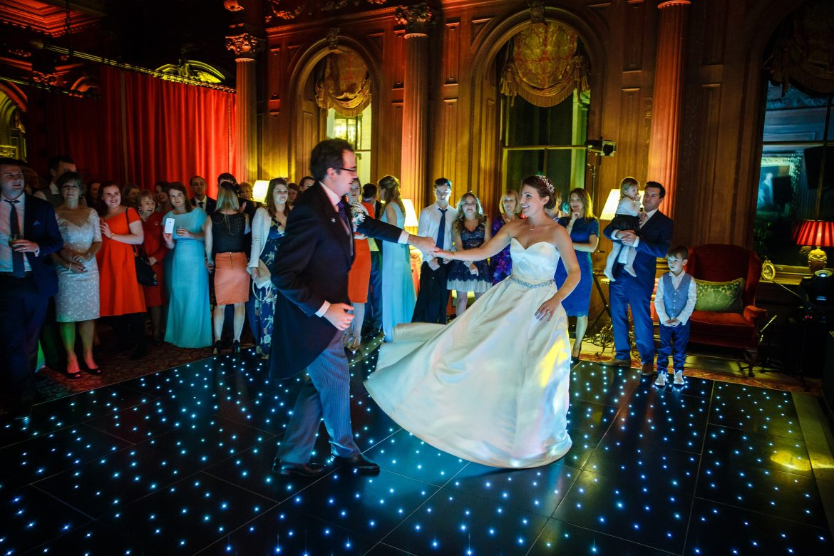 dancing at Cliveden House Wedding