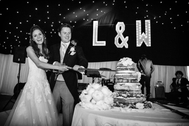 cake cutting at kent wedding