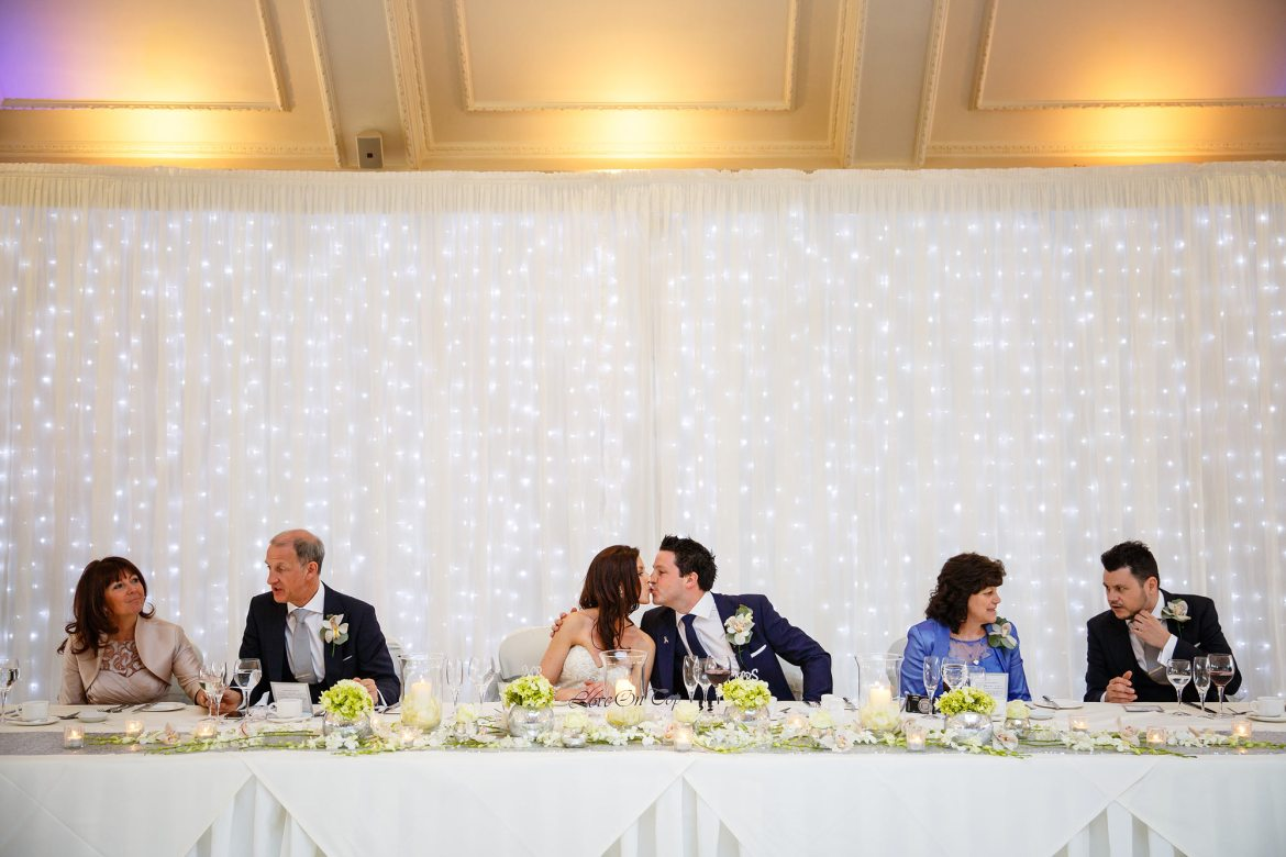 kiss at Stock Brook Country Club Wedding