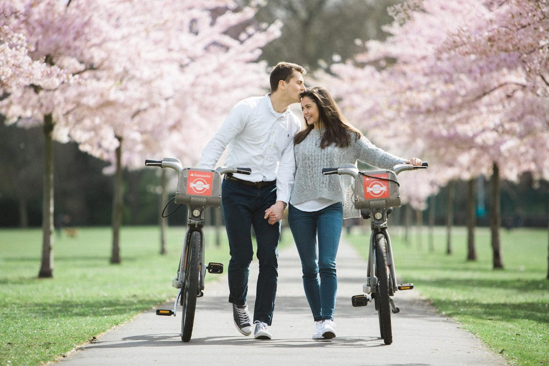 spring engagement shoot london