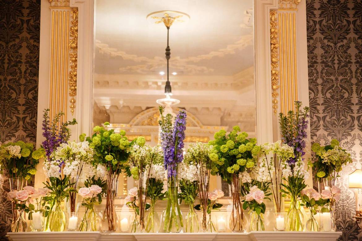 spring flowers at claridges