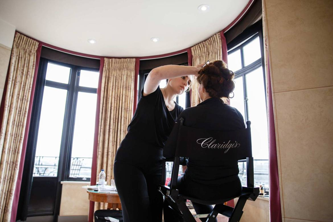 make up artist at claridges