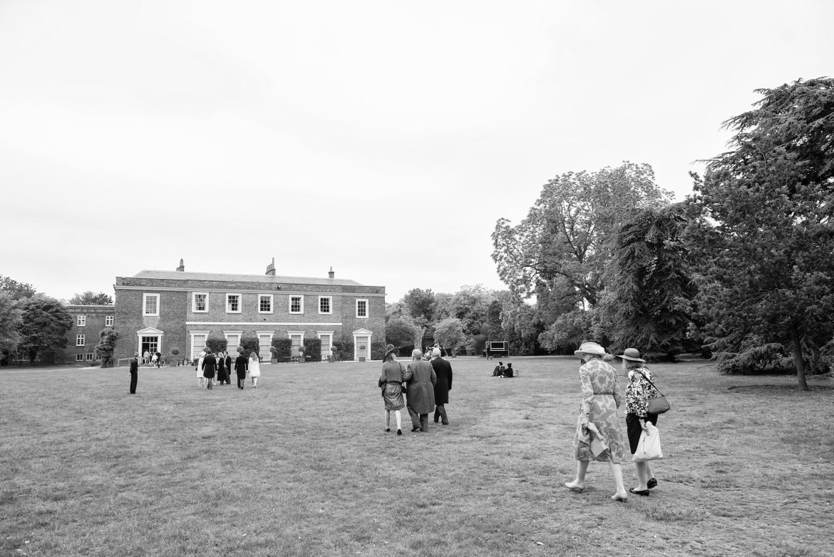 guests walk to fulham palace