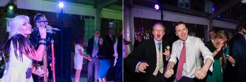 Fun dancing at Fulham Palace Wedding