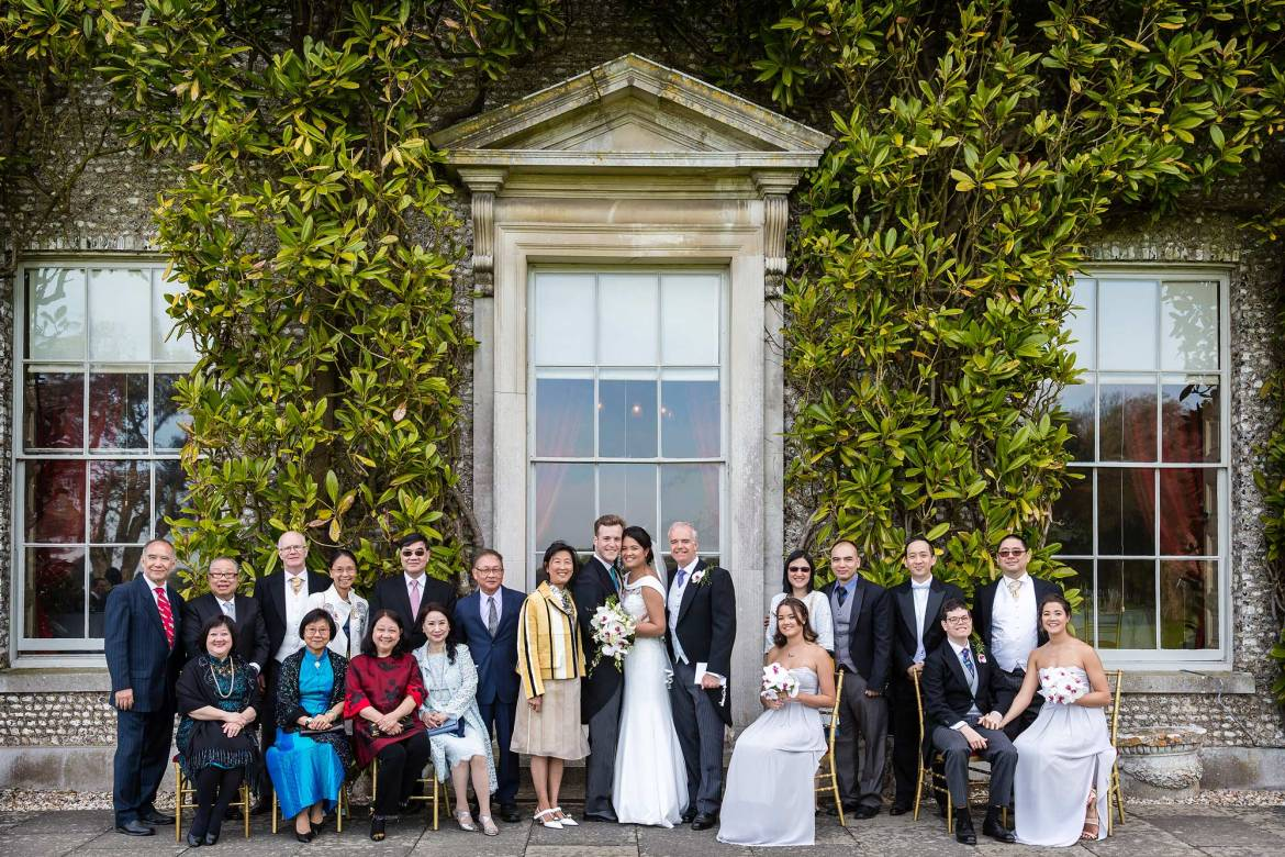 Wedding groups at Goodwood House