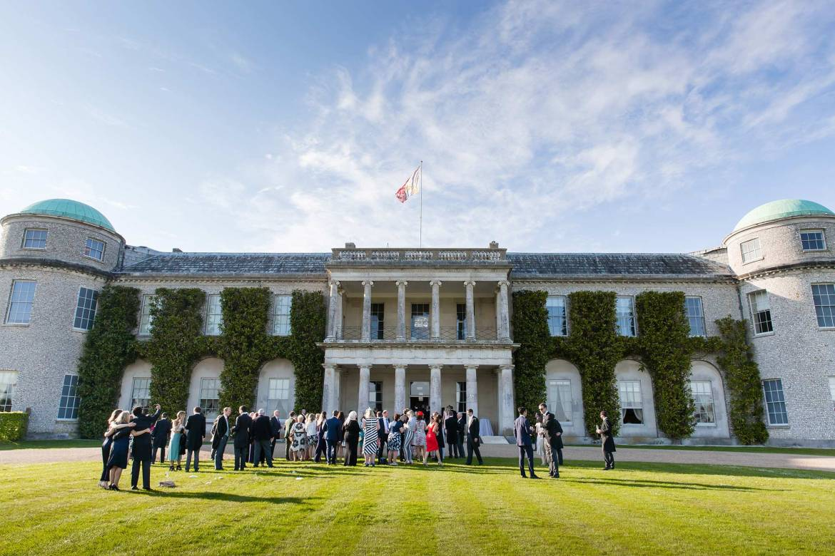 Guests on the lawn of Goodwood House
