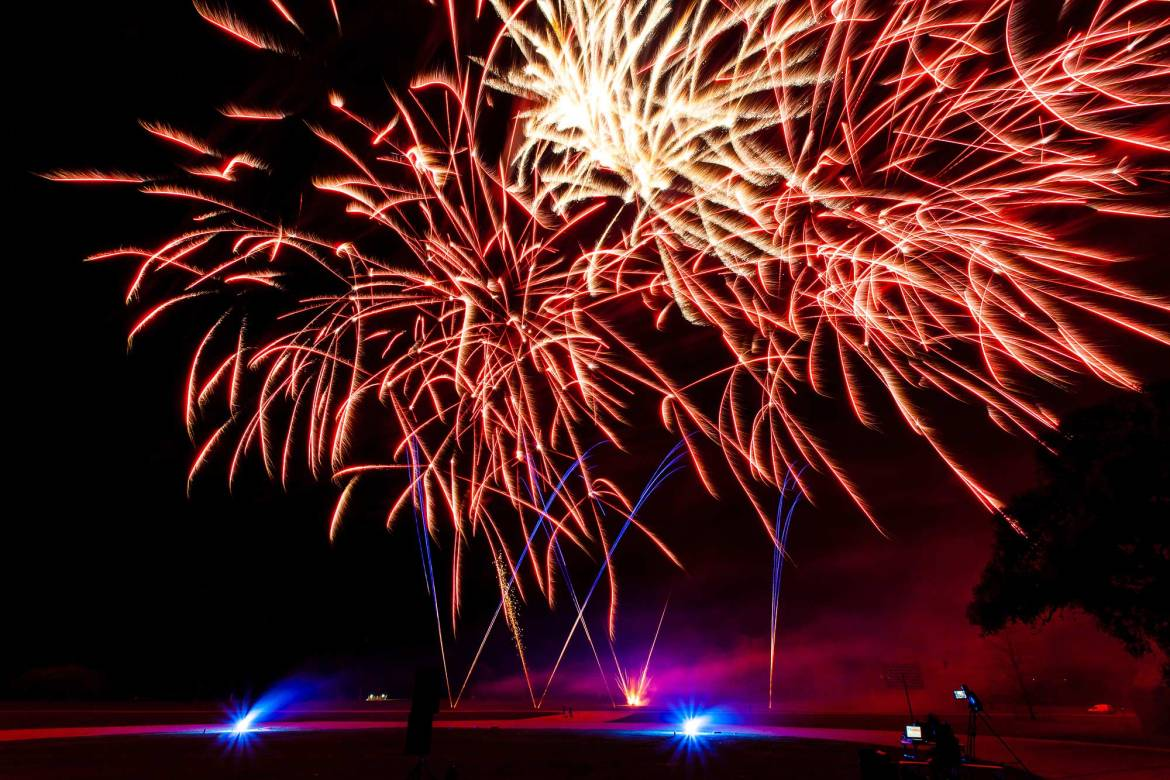 Fireworks at Goodwood House