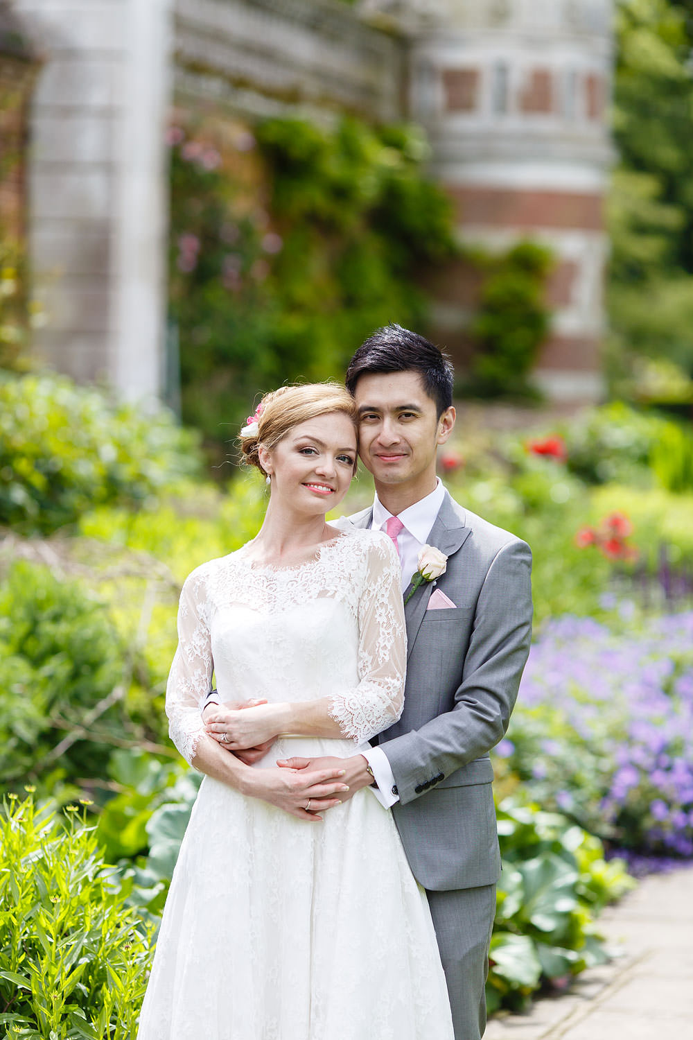 Colourful picture of the couple at Cliveden House
