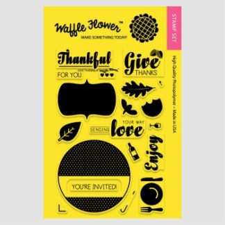 Waffle Flower Stamps Give Thanks