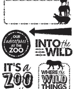 Kaisercraft Into the Wild Stamps