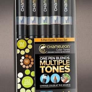 Chameleon Color Tones 5 Pen Earth Tones set