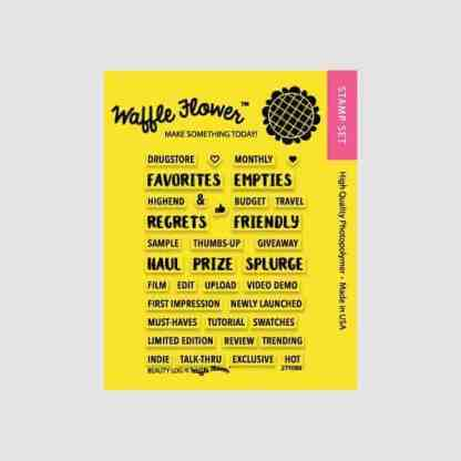 Waffle Flower Crafts Beauty Log Stamp Set
