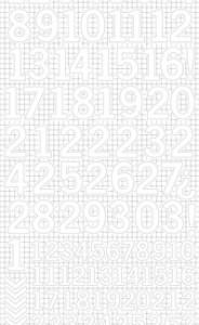 Kaisercraft Number Sticker Sheets White