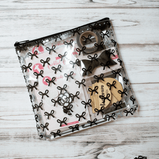 Freckled Fawn Pouches Black Bows