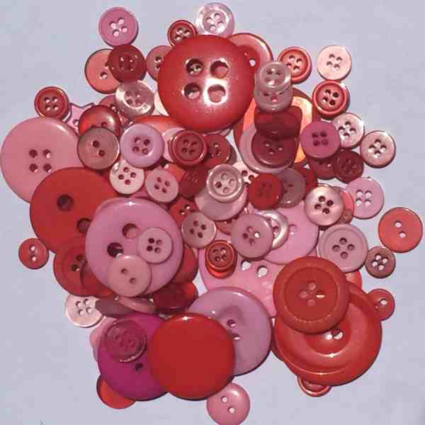 Mixed Resin Buttons Red & Pink