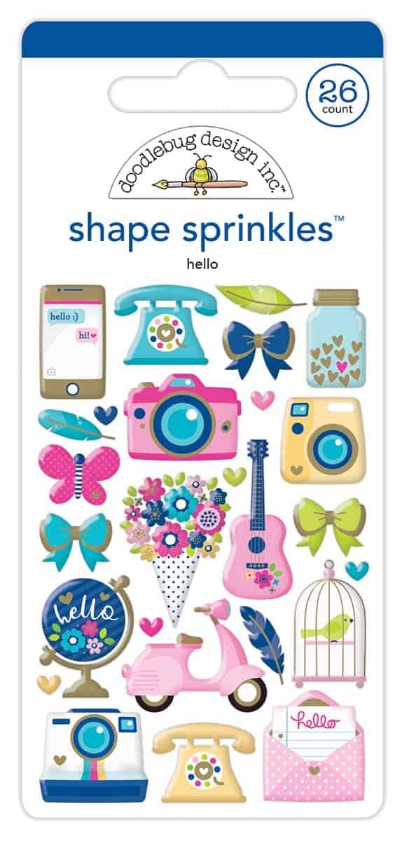 Doodlebug Design Shape Sprinkles Hello