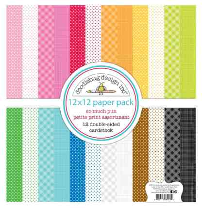 Doodlebug Design 12x12 Petite Paper Pack So Much Pun