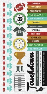 Kaisercraft Game On Sticker Sheet American Football