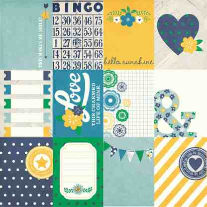 Simple Stories 12x12 A Charmed Life 3x4 Journal Cards