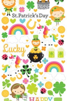 Doodlebug Design Icon Stickers Lots o Luck