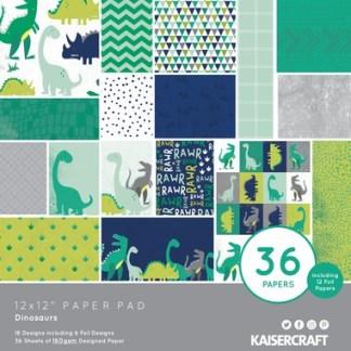Kaisercraft Paper Pad Dinosaurs