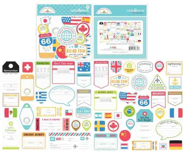 Doodlebug Design Odds & Ends Tags I Heart Travel