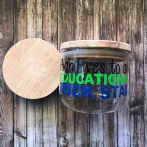 Teacher Gift Jar Rockstar