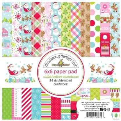 Doodlebug Design 6x6 Paper Pad Night Before Christmas