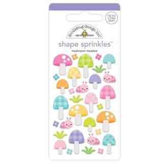 Doodlebug Design Shape Sprinkles Mushroom Meadow