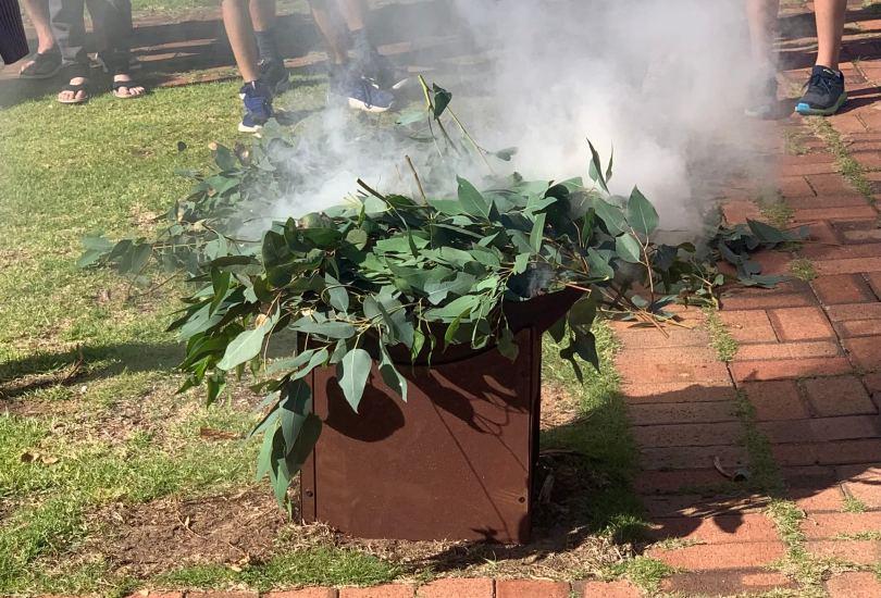 Smoking Ceremony Rotttnest Wadjemup School Camp