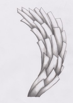 Layered texture initial drawing