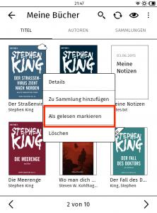 eBook als gelesen markieren