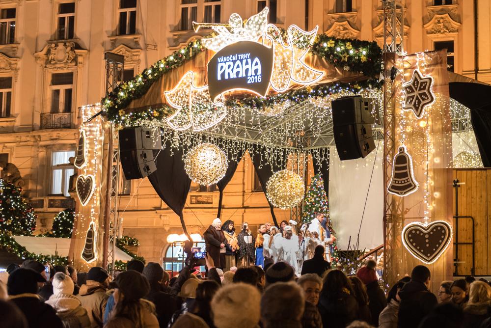 06A Prag, Tschechien, Czech Republic, sightseeing, night, city, christmas market