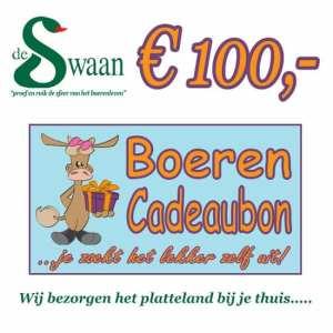 Boeren Cadeaubonnen 100 - Een Cadeaubon is het ideale kerstpakket voor elke medewerker - Bestel bij BoerenCadeaubon- www.KerstpakkettenCadeaubon.nl